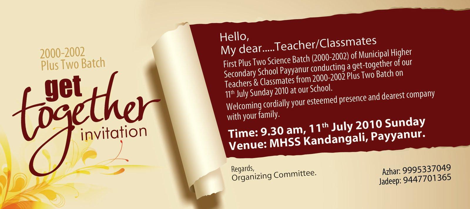 Get Together Invitation Template. lets get together invites 242 ...