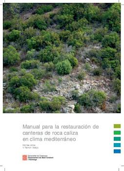 Manual para la restauración de canteras de roca caliza - Portada