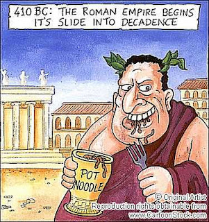an analysis of the causes of the downfall of the roman empire Free research that covers introduction the downfall of the roman empire may be understood as the social decline of the roman society there are many theories on the collapse and many rea.
