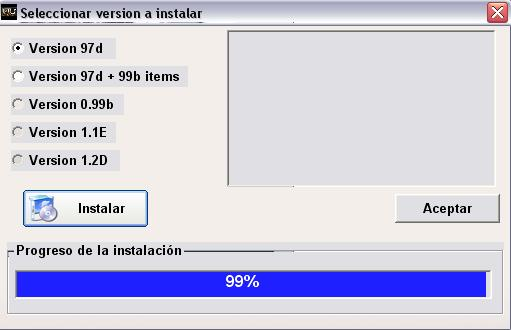 Instalando files de la version 097