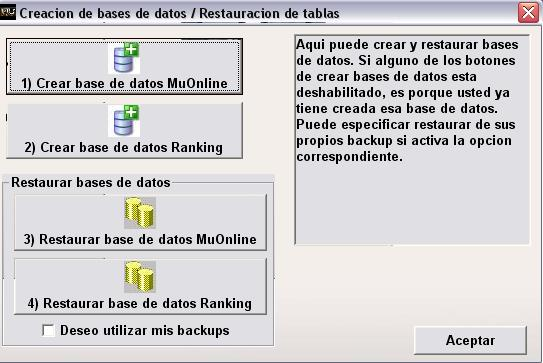 Restaurando base de datos