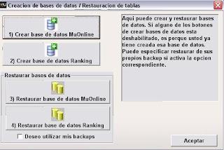 guia como crear un server de mu: