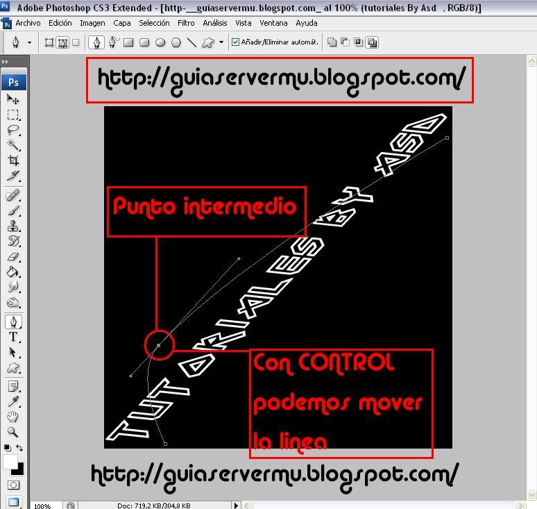 Creando curva sobre el texto