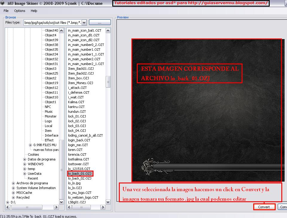 Convirtiendo archivo ozj en jpg