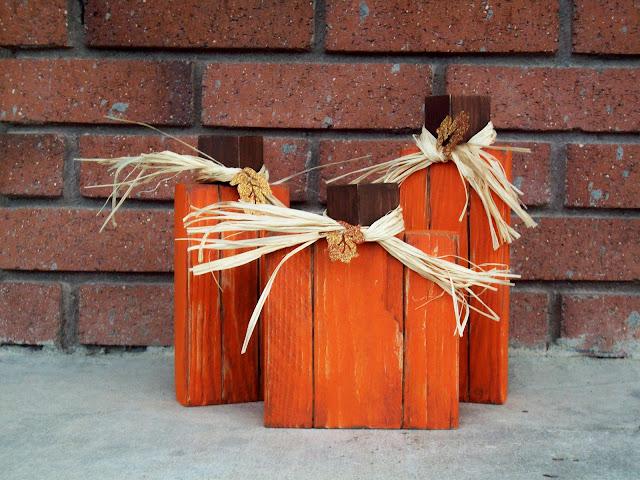 Pumpkin Trio wood blocks