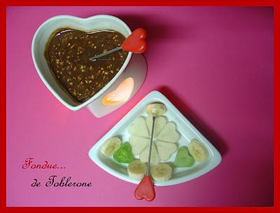 Fondues coeur Fondue+toblerone
