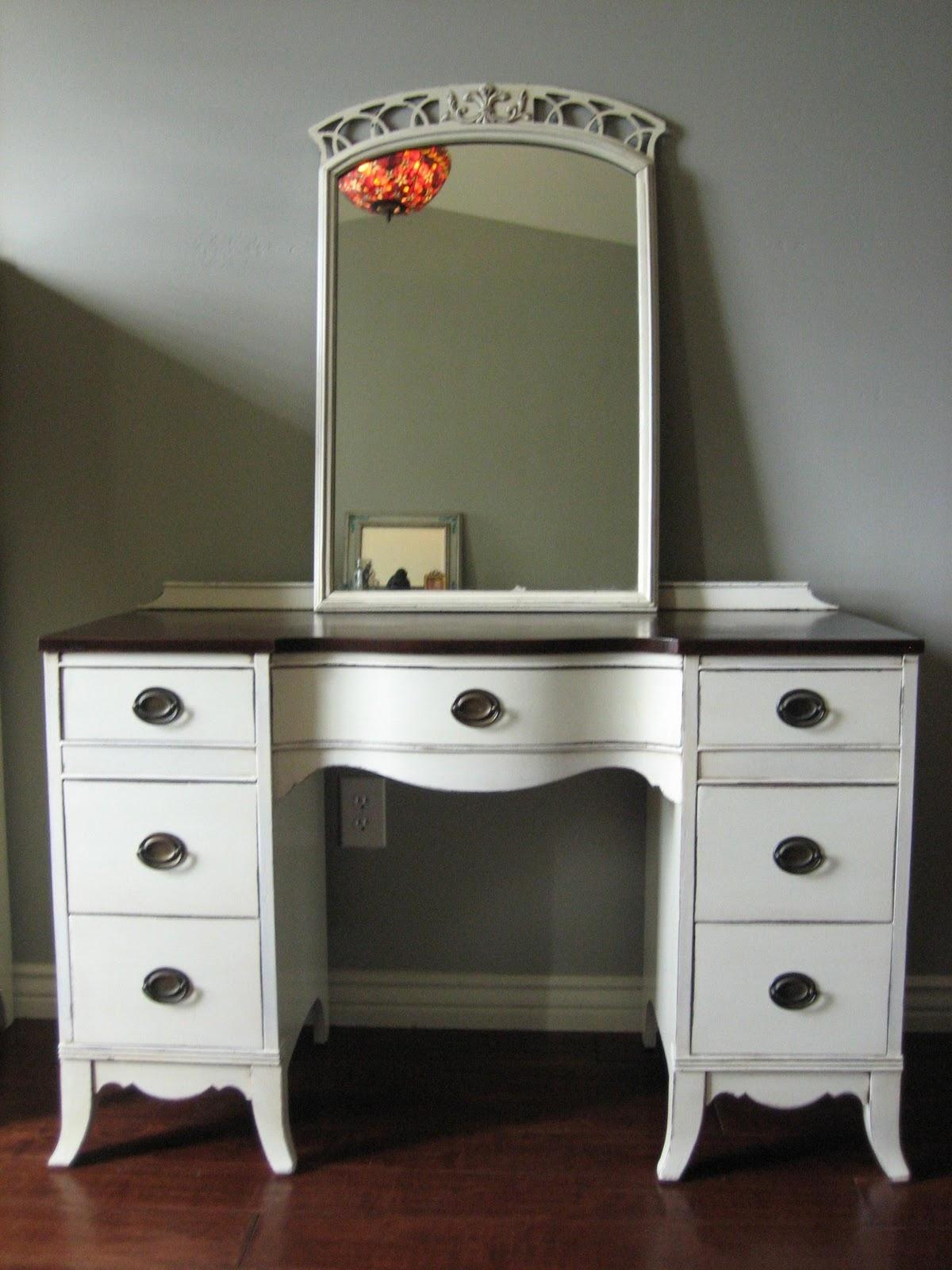 European Paint Finishes  Antique White Dresser  Vanity