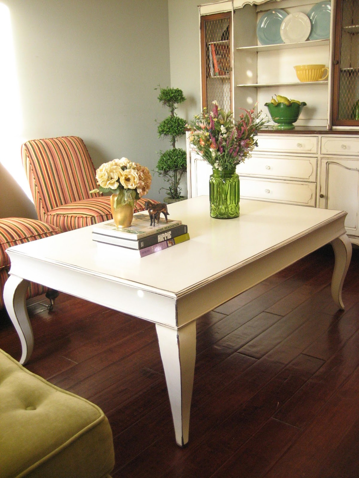 European Paint Finishes White Coffee Table