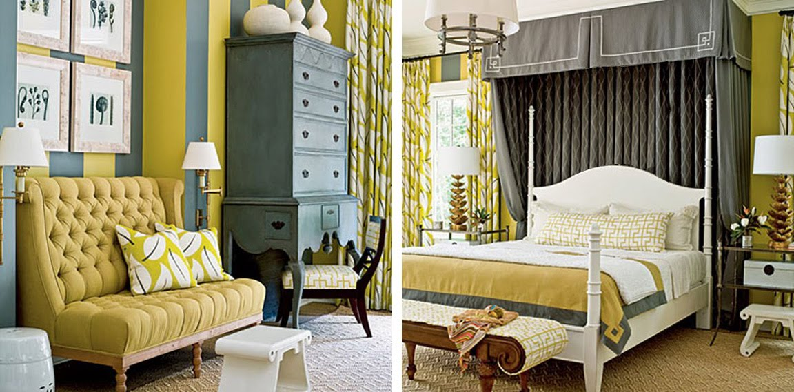 {BLACK. WHITE. YELLOW.}: Yellow And Grey Bedroom Inspiration