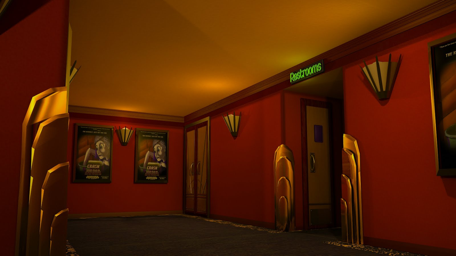 Art Deco Movie Theatre Wallpaper 1080p 1600 X 900 Art