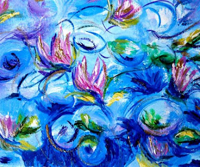 Water Lilies - After Monet - Close