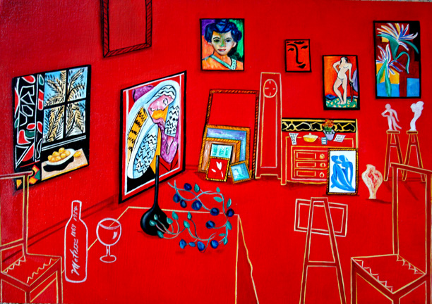 After Matisse Red Studio Painting Within By K Madison Moore