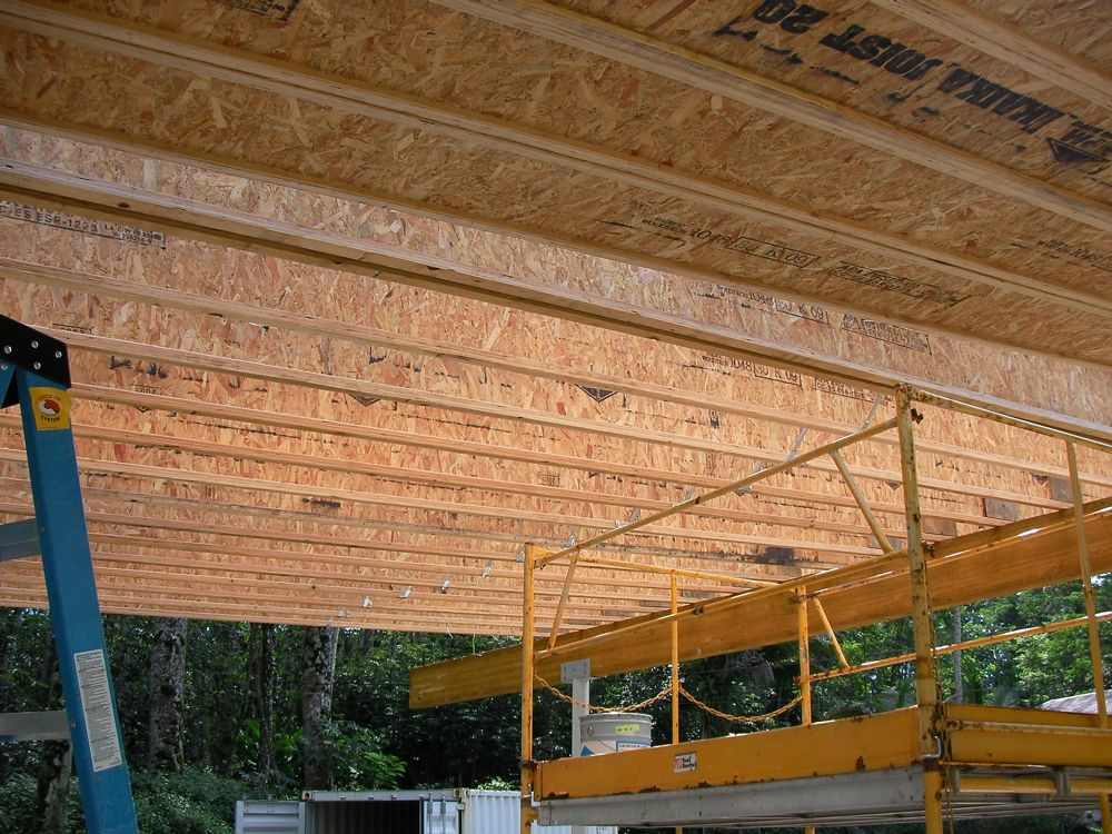 Hawaii House Build Tji Ceiling Up And Almost Done