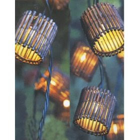 String Lights For Tiki Bar : Thoughts for an Early Morning: Bamboo Tiki String Lights Set of 10 Dark Bamboo