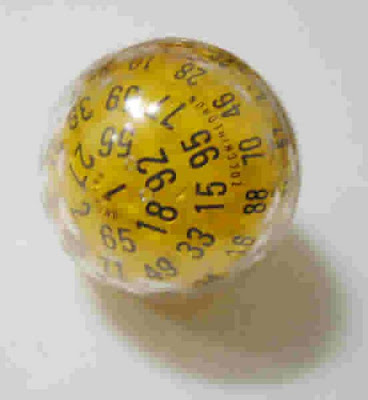Zocchi's Golfball  100-sided die,