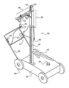 Device and method for supporting a self-powered hedge cutter found under Self-cutters images
