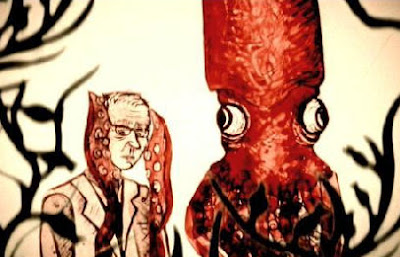 It tells the story of one man's love for the giant squid...part of a larger animated film called mermaid