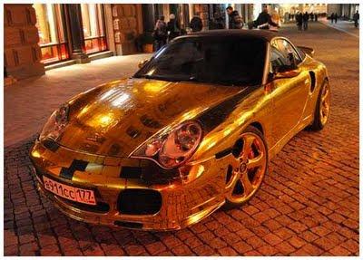 The Body Car: Gold Porsche 911 turbo
