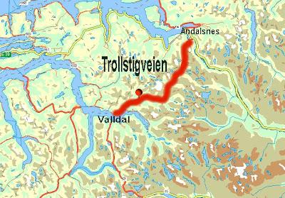kart over trollstigen REISERUTE JULI 2007: Tirsdag 3 juli Geiranger   Molde kart over trollstigen