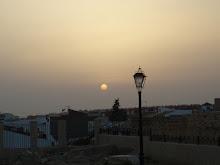 puesta de sol en el mirador