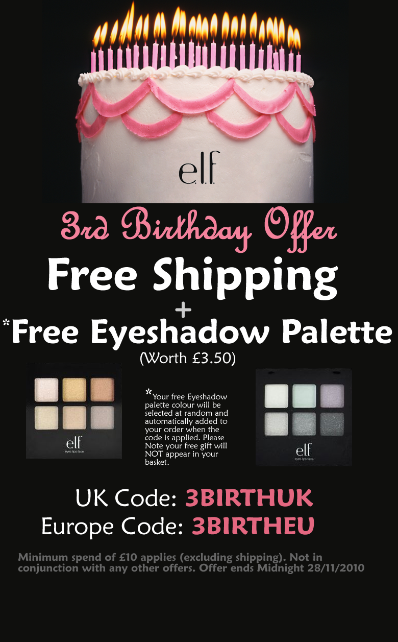 graphic about Elf Printable Coupons named Elf make-up discount coupons british isles - Beauty freebies united kingdom