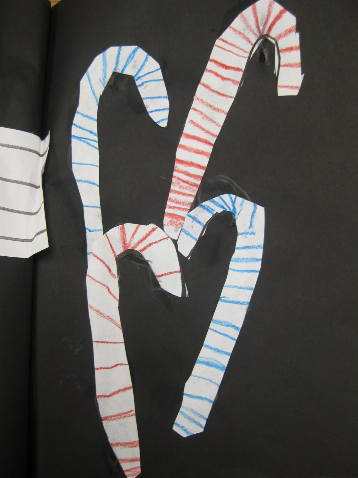 The Alphabet Garden Candy Canes Warm Scarves Handprint