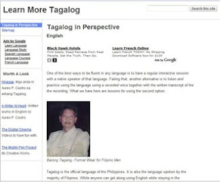 learn more tagalog web site