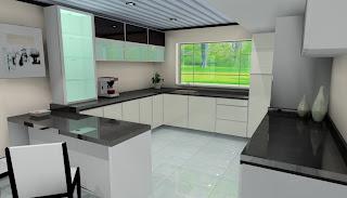 Dapur Moden Generasi Baru Lebih Menarik Dengan Kabinet 3g Akrilik