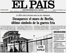 los periódicos y la construcción del muro de Berlín