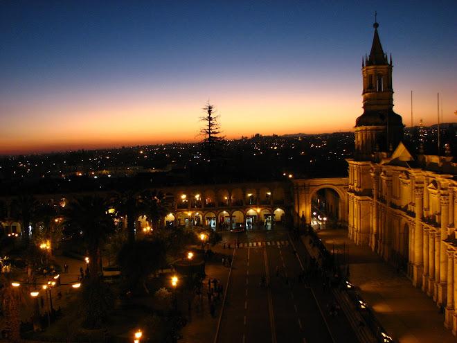 Pôr do sol em Arequipa