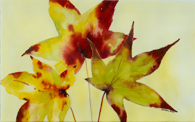 Daily Painting Projects: Autumn Leaves Maple Tree Still Life Fall