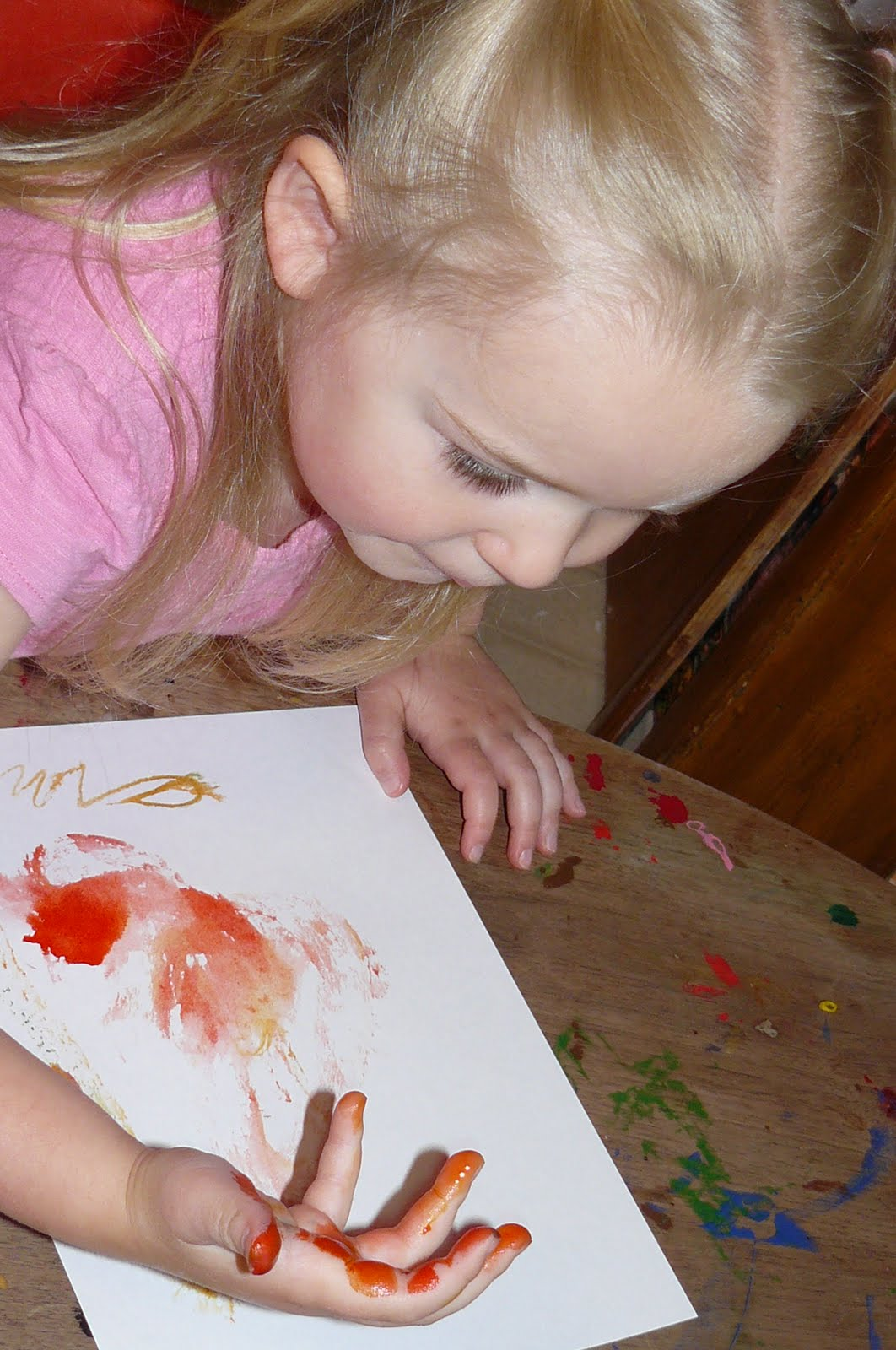 Child Central Station Ice Cube Paintings