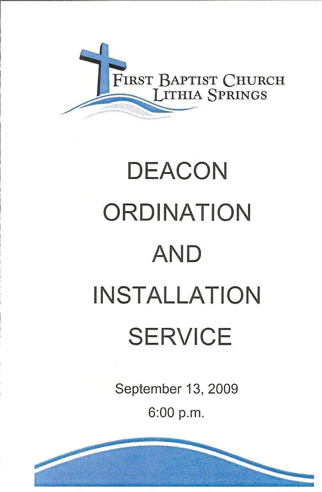 First Baptist Church Lithia Springsa History Deacon Ordination 2009