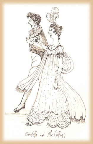 how is charlotte and mr collins Bad business: mr collins's proposal in pride & prejudice throughout pride and prejudice, the theme of marriage is revisited constantly as five offers of marriage are made and four couples are wed however then finally charlotte.