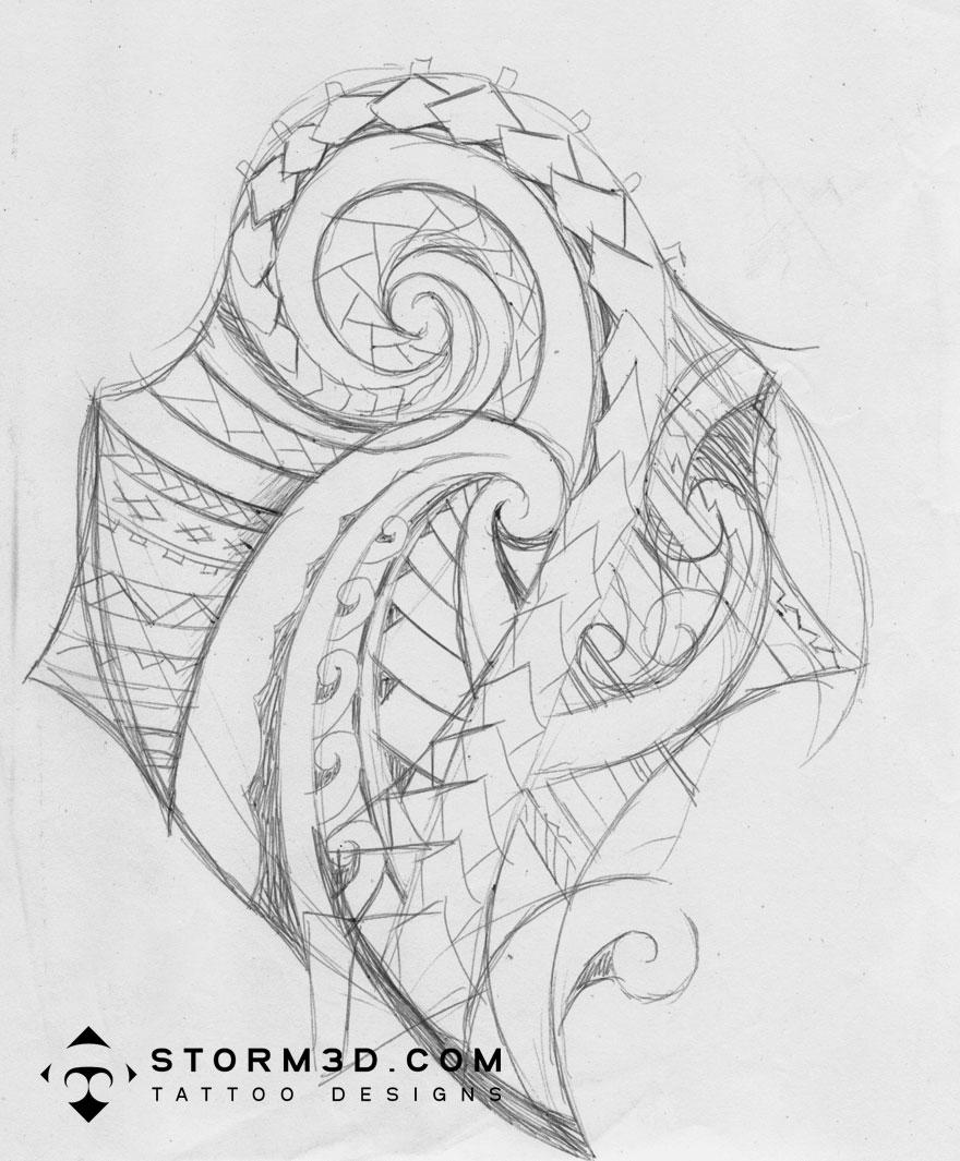 Maori Samoan Tattoo Design For The Shoulder