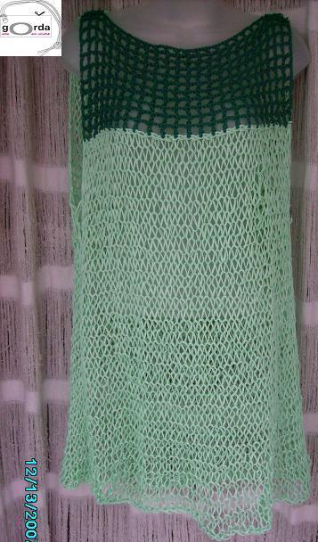 Saída de praia  em tricô e crochê