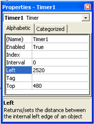 Komponen Timer pada Visual Basic