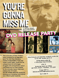 Roky Erickson DVD Release Party @ Southpaw, July 10th