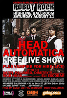 Head Automatica Plays Free Show @ Highline Ballroom