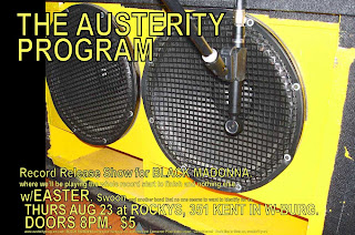 Austerity Program CD Release Party - Aug 23rd @ Rocky's