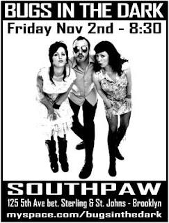 Bugs In The Dark Are Playing Southpaw on Friday, November 2nd