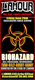 Reunited Biohazard Plays L'Amour on June 20th