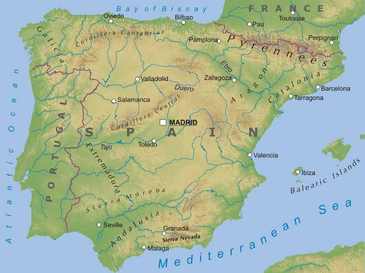 Marta y Rosa Geography The relief of Spain