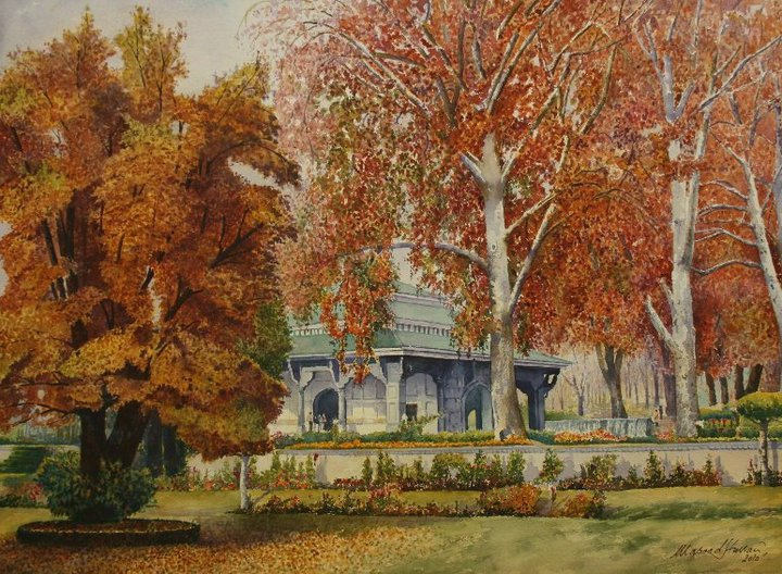 Chinar Shade Masood Hussain Enchanting Painter From
