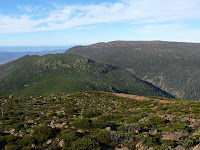 Mt Connection, Thark Ridge, Tom Thumb and Mt Wellington from Collins Bonnet summit - 11 May 2007