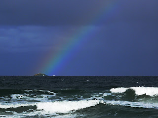 Rainbow and Little Betsey Island, from Hope Beach - 14 July 2007