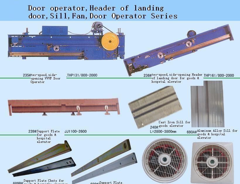 elevator part: 27.DOOR OPERATOR.HEADER OF LANDING DOOR.SILL.FAN.DOOR OPERATOR SERIES