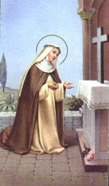 Santa Rosa de Lima rezando