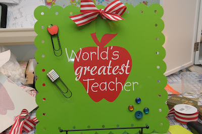 Worlds Greatest Teacher Magnet Board