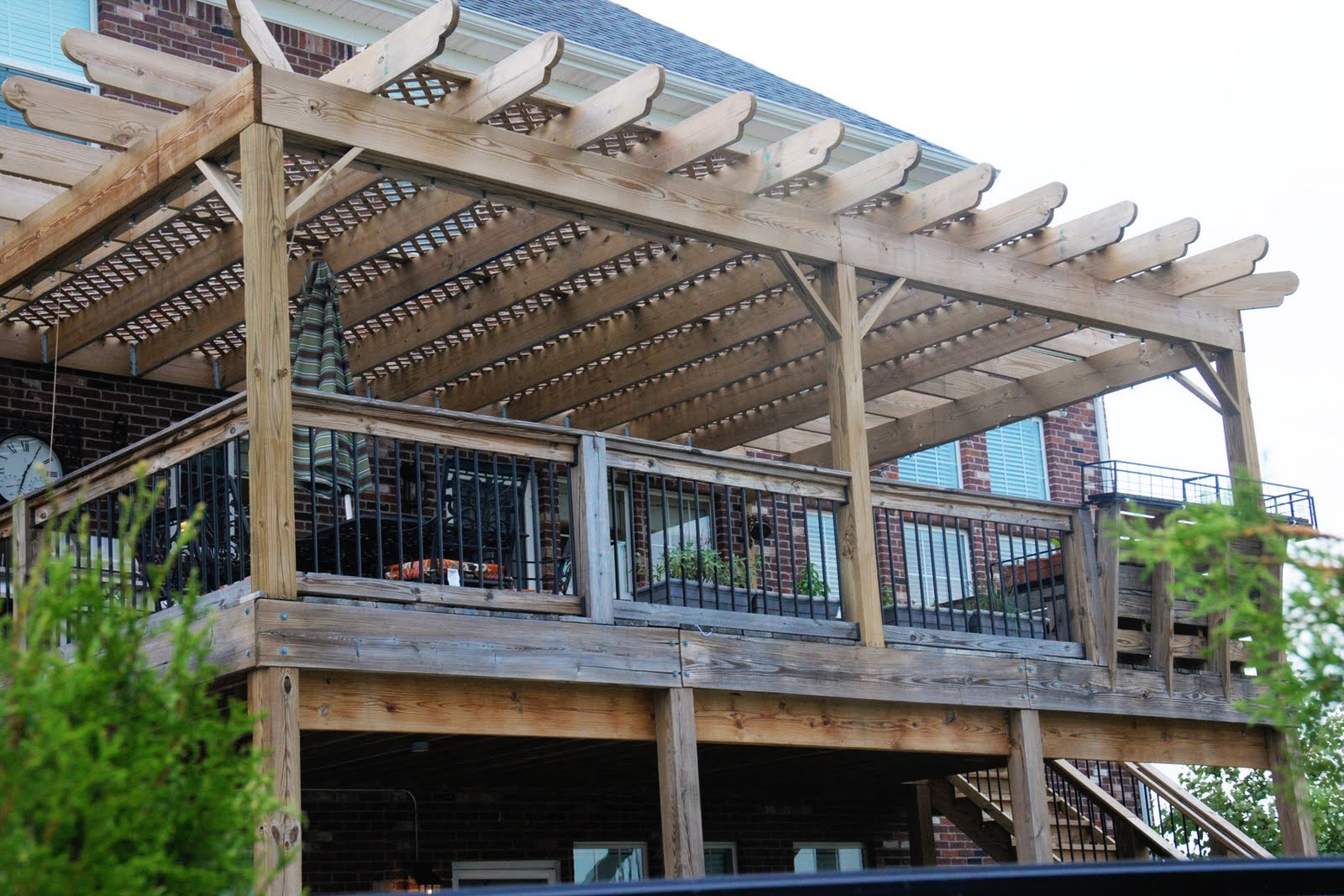 If you build it, add a Pergola to a Deck... - The Polkadot ... on Add On Patio Ideas  id=23944